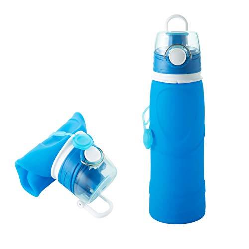 Fischer Faltbare Trinkflasche, 100% BPA frei, lebensmittelecht und geruchsneutral, vielseitig einsetzbar