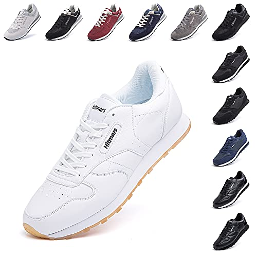Scarpe Ginnastica Uomo da Sportive Scarpe da Running Sneaker Basse Donna Tennis Unisex Moda Sport Fitness Bianca 3 Taglia 48