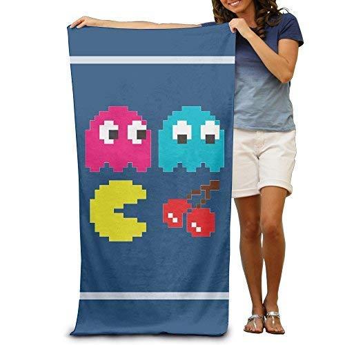GDYHYHS Pacman Pixel Pool-Handtuch, 76,2 x 127 cm, für Erwachsene, leicht und saugfähig