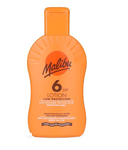MALIBU SUN LOTION LOW MEDIUM HIGH 200ml 150ml 100ml ALL SPF AVAILABLE UVA/UVB (6 low 200ml) by LIVERPOOL ENTERPRISES LTD
