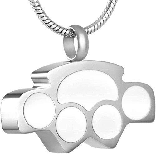 YXYSHX Halskette Esche Kette Herren und Mädchen Memorial Schmuck Halskette Esche Knochen Anhänger mit Creme Klaue Halskette -Bb-A