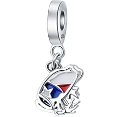 ❤ADVANTAGE: puerto rican flag charm meet 925 SILVER Jewelry Quality Assurance Standards. delicate red blue and white enamel heart accents.Fit travel charm bracelets for women.We have Professional Certification for our Sterling Silver charms. ❤SIZE Th...