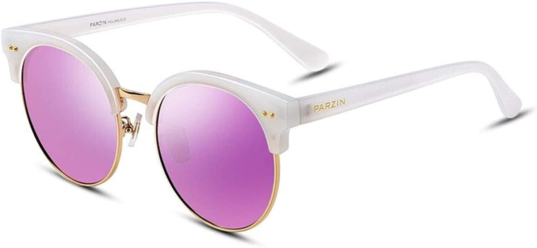 Sunglasses, Men's and Women's Retro Round Frame Polarized Sunshade UV Predection Sunglasses