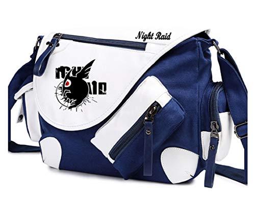 YOYOSHome Akame ga Kill! Anime Cosplay Mochila Messenger Bag Bolso (azul)