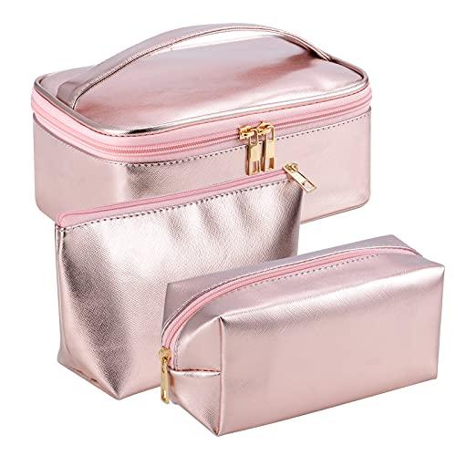 Olycism Borse da Toilette 3 Pezzi Cosmetici Trousse Impermeabile Borse da Viaggio Impermeabili Trasparenti Set Beauty Case da Viaggio