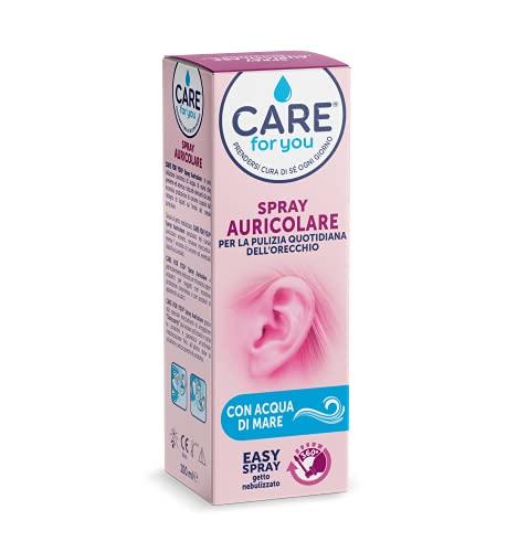 Care For You, Spray Auricolare Nebulizzato, per la Pulizia Quotidiana dell'Orecchio, con Acqua di Mare Isotonica, Formato da 150ml