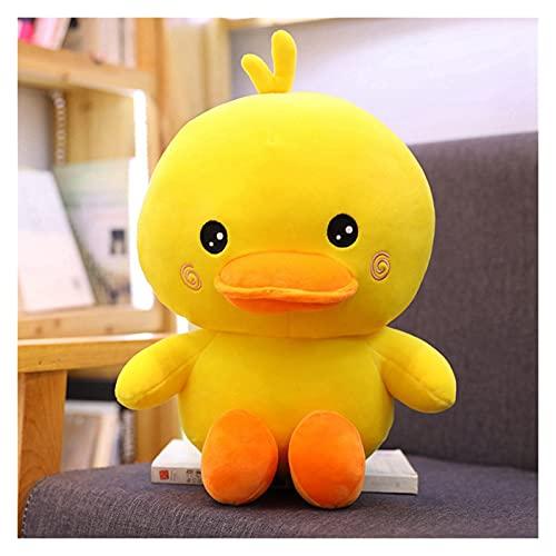CHENPINBH Mjuka leksaker 35–50 cm uppstoppad bomull liggande anka söt stor gul anka plyschleksaker för barn mjuk kudde bästa barn flicka (färg: 45 cm)