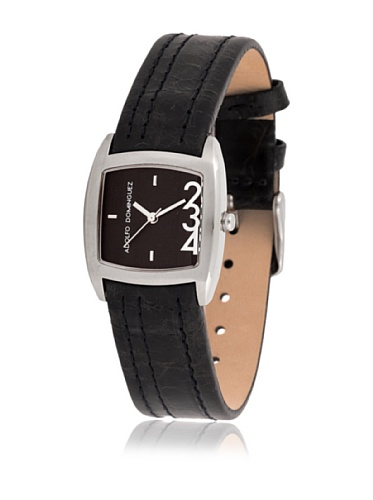 Adolfo Dominguez Watches 69039 - Reloj de Señora Cuarzo Correa Piel Negra