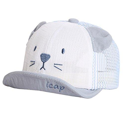 XRDSS XRDSS Baby Junge Mädchen Schirmmütze Kappe Mesh Trucker Baseball Cap (Blau, 1-3 Jahre)