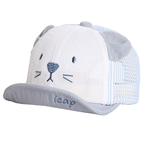 XRDSS Baby Junge Mädchen Schirmmütze Kappe Mesh Trucker Baseball Cap (Blau, 6-18 Monate)