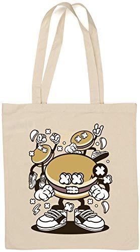 Dorayaki Funny Food Party Cartoon Art Bolsa de algodón Natural