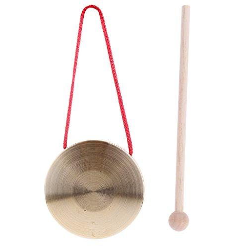 gazechimp 4 Zoll / 10 Cm Musik Percussion Hand Gong Becken W/Stick Mallet Für Kinder Spielzeug