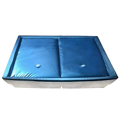 Tidyard Wasserbettmatratzen-Set mit Einlage + Trennwand 200 x 200 cm F3