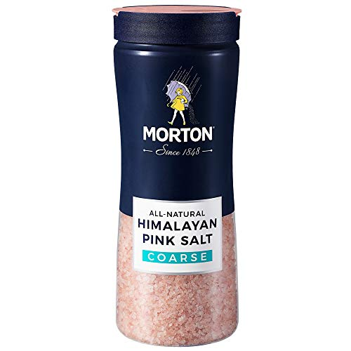 New Morton Himalayan Pink Salt, Coarse – All Natural for Grilling, Seasoning & More (17.6 Oz.) Pack of 12 -  AmazonUs/MORHE, F111950010B