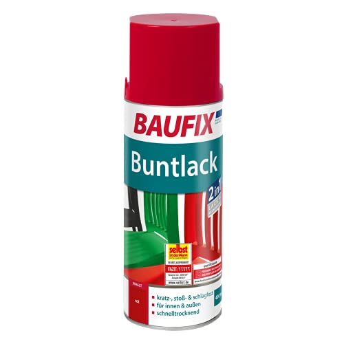 BAUFIX 0800830901 Buntlack Spray, rot glänzend