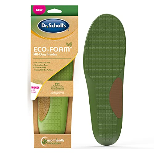 Dr. Scholl s Eco-Foam Insoles for Women  Shoe Inserts Made with Sustainable and Recycled Material  Women s 6-10
