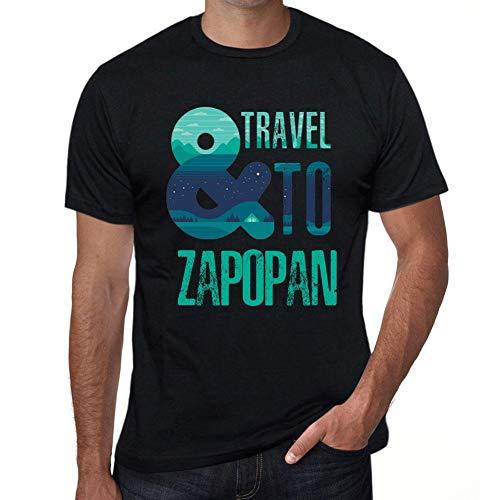 One in the City Hombre Camiseta Vintage T-Shirt Gráfico and Travel To Zapopan Negro Profundo