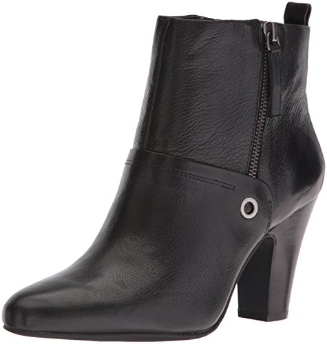 Nine West Women's Gowithit Leather Boot, Black, 8 M US