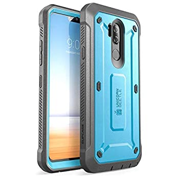 LG G7 Case LG G7 ThinQ Case SUPCASE Full-body Rugged Holster Case with Built-in Screen Protector for LG G7 2018 Release Unicorn Beetle Pro Series with Holster  Black