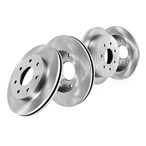 CRK13780 FRONT 308 mm + REAR 334 mm Premium OE 7 Lug [4] Brake Disc Rotors