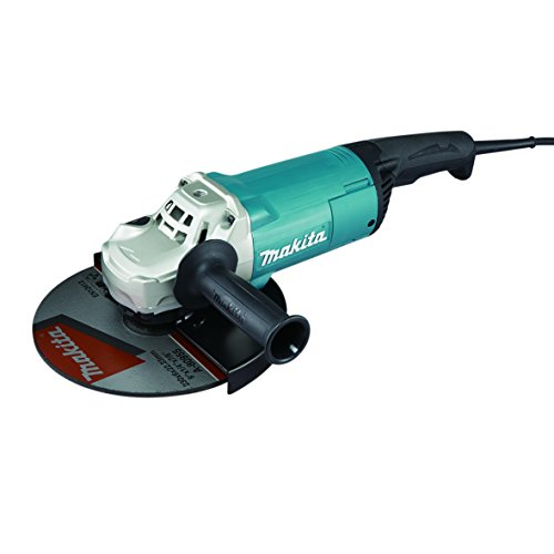 MAKITA GA9061R 2200W 6600RPM 230mm 5700g-Amoladora angular (6600 RPM, Negro, Azul, M14, 91, 3, 102 dB)
