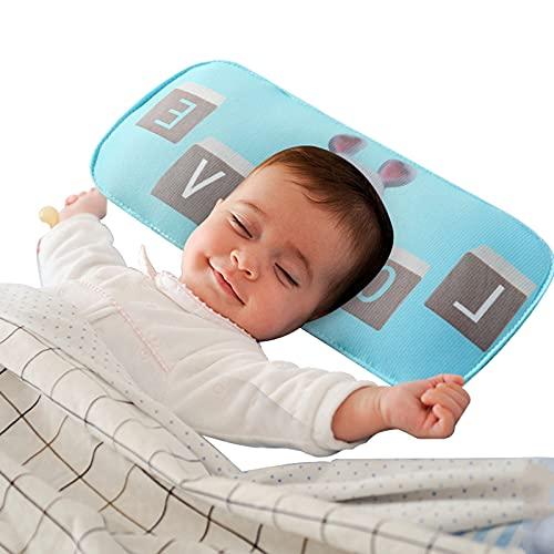 HXPainting Almohada Bebés Baby Pillow Recién Nacida para Ayudar A Prevenir Y Tratar La Plagiocefalia 0-12 Meses