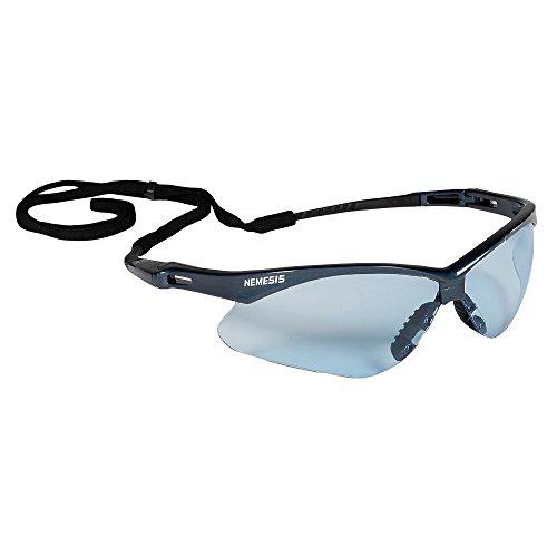 KLEENGUARD V30 Nemesis Safety Glasses (19639), Light Blue Lenses with Blue Frame, 12 Pairs / Case