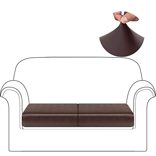HDCAXKJ Fundas de cojín de Cuero Impermeables para sofá, Fundas elásticas para Asiento de sofá para Silla de Dos plazas, Fundas seccionales, Protector de Muebles (pequeño,...