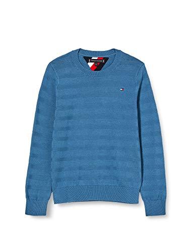 Tommy Hilfiger Jungen Tommy Crew Sweater Sweatshirt, Blau (Audacious Blue Cry), Jahre (Herstellergröße: 14)