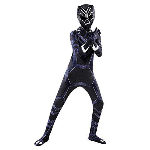 GYMAN Avengers Black Panther Cosplay Costume Unisex Adultos Nios Imprimir 3D Cuerpo Completo Cosplay Traje Jumpsuit Body para Party Pelcula Disfraz Accesorios,Panther2-110~120cm