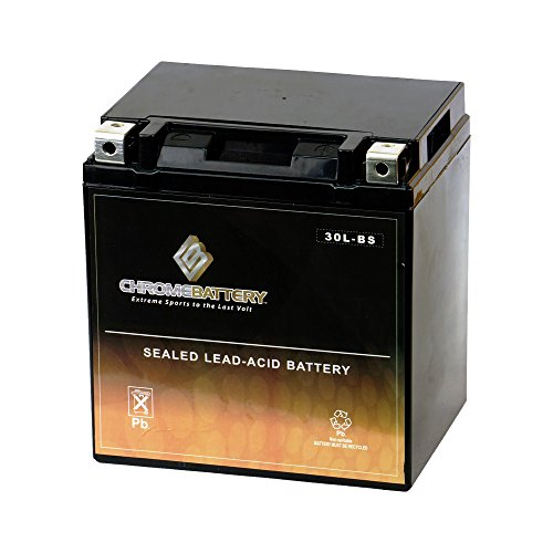 Chrome Battery YTX30L-BS High Performance - Maintenance Free - Sealed AGM Motorcycle Battery