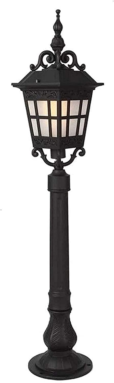 Sing Head Outdoor IP55 Lámpara de jardín Impermeable Poste Vintage Luz de bolardo Retro Calle Césped Iluminación de Paisaje E27 Lámpara de Columna de Patio Linterna de Pilar de Vidrio