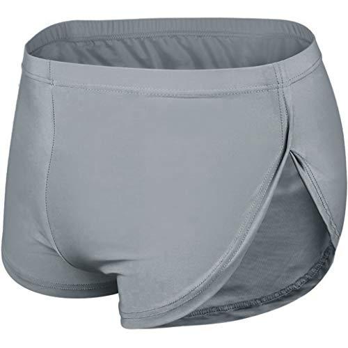 Buyaole-underwear Calzoncillos Hombre con Relleno Trasero,Boxer Elastano Hombre,Ropa Interior Hombre Sexy,Lenceria Invierno,Tangas Negros,Pantalones Cortos Hombre Algodon