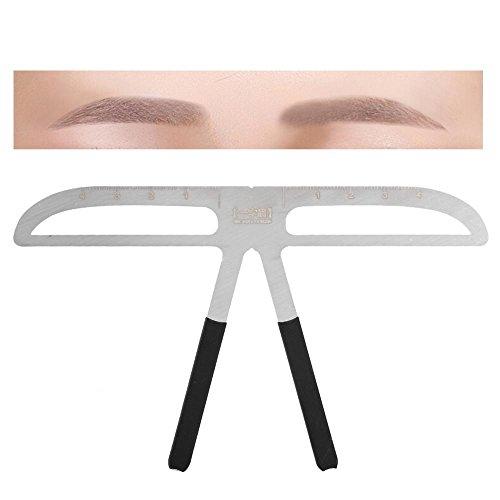 Pochoir professionnel de sourcil formant le modèle bricolage formant définissent l'outil de maquillage de règle, 1 pièce (Sourcil naturel)
