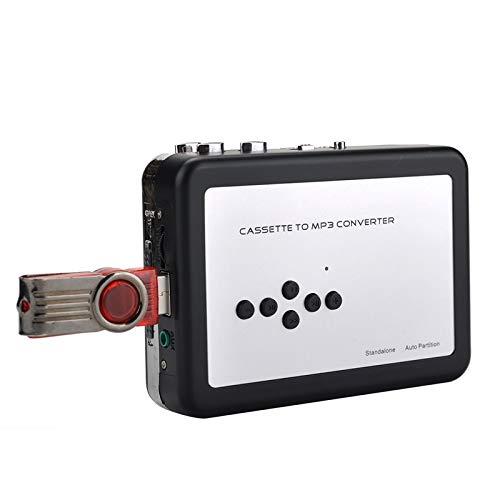 Y&H Mangiacassette & Mangiacassette Singolo Portatile Riproduttore da Cassetta a MP3 Walkman e Convertitore di Audiocassette in File Digitali MP3 via USB con Auricolari, Nessun PC richiesto
