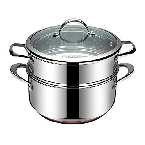 WALNUTA Pequeño Vapor 304 de Acero Inoxidable de Tres Capas engrosadas 2 Capas Dobles 3 Más 1 Capas Vapor de Cocina de inducción Sopa de Olla de la Estufa de Gas doméstico (Size : 12cm)