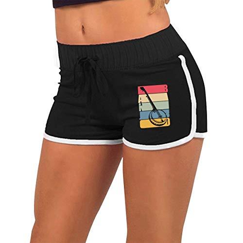 limeiliF Yoga Pantaloncini Pantaloncini da Corsa per Fitness da Bici Traspiranti a Vita Bassa da Donna Banjo Vintage