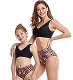 GLOOZD Mami y yo Swimsuits Chicas Traje de baño Traje de baño Madre Hija Familia Juego de baño de Dos Piezas Set de Bikini,b,116