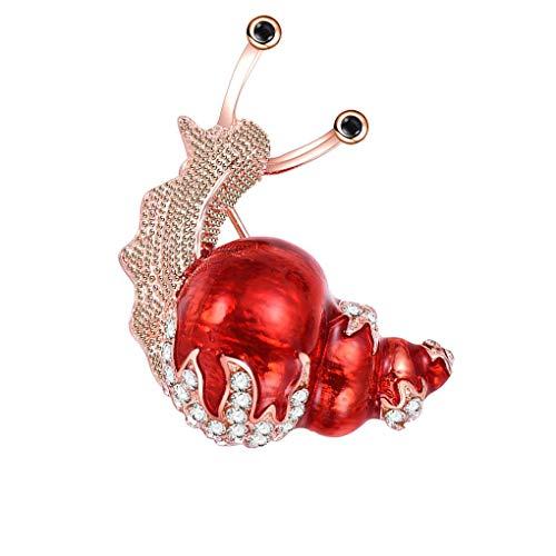 Fangfeen Mujeres Niñas Broche cristalina de Dibujos Animados Animales Breastpin Broche Planta Rhinestone Ropa Linda decoración
