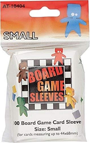 Asmodee–at-10404–Board Game Sleeves–Clear Small Fits Cards–44x 68mm