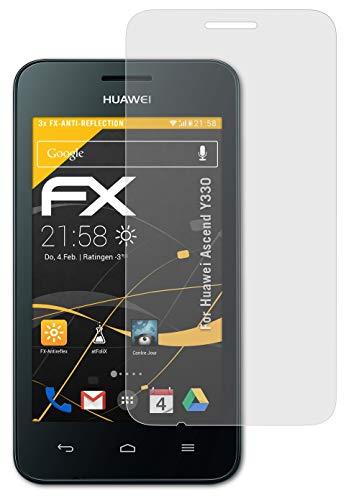 atFolix Panzerfolie kompatibel mit Huawei Ascend Y330 Schutzfolie, entspiegelnde & stoßdämpfende FX Folie (3X)