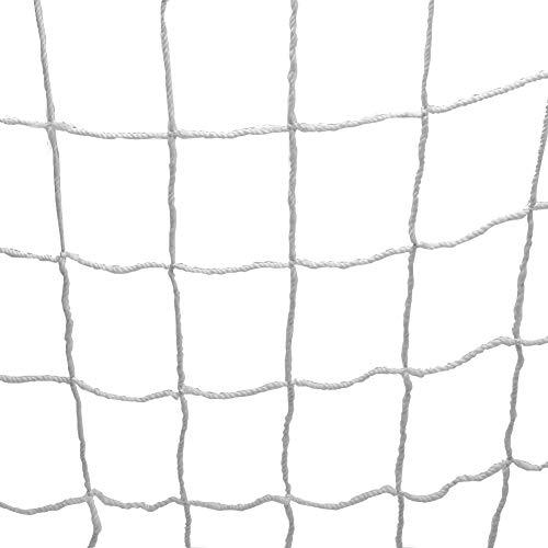 GLOGLOW Fußball Tor Net, Full Size Fußball Sport Ersatz Tor Netze Polypropylen Fußball Torpfosten Net für Sport Match Training(6X4FT)