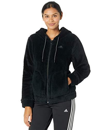adidas Sudadera con capucha para mujer Must Haves Sherpa con cremallera completa - IXK70, XS, Negro