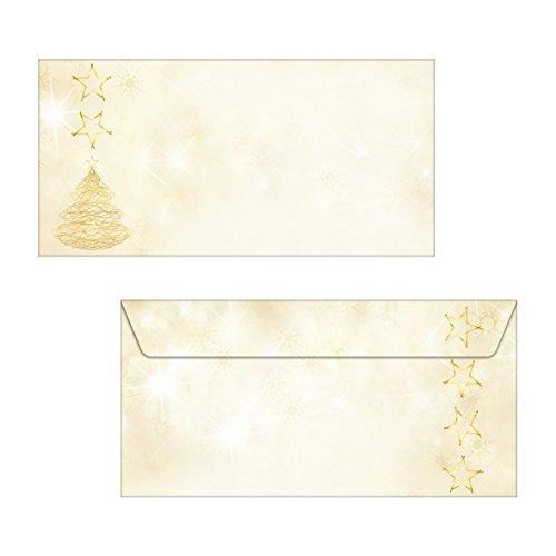 Sigel DP234 briefpapier Kerstmis A4 met gouden sneeuwvlokken, 90 g, 100 vel Enveloppen Graceful Christmas - enveloppen
