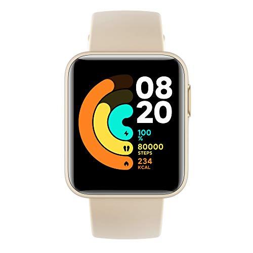 Xiaomi Mi Watch Lite – Smartwatch Xiaomi – 1,4 Zoll TFT-LCD-Display – bis zu 9 Tage Laufzeit mit Einer Aufladung – Überwachung von 11 Sportarten – Elfenbeinfarben