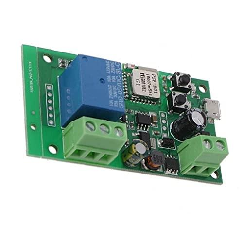 YepYes Interruptor WiFi a 12V de Marcha Lenta autoblocante Módulo de relé Remoto Reloj de Control de Smart Home Automation