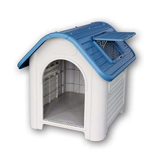 【Branch Dog】 犬小屋 小・中型犬用 ドッグハウス シェルター 屋外用 419(青)(プラスチック製)ヨーロッパ・アメリカ輸出用 (ブルー)