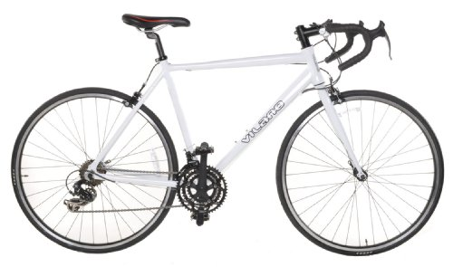 Vilano Aluminum Road Bike 21 Speed Shimano, White, 50cm Small