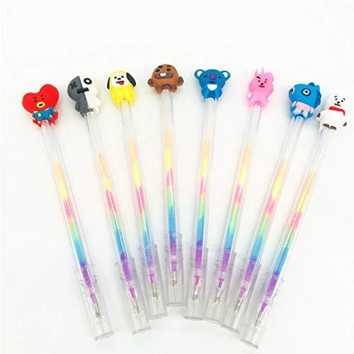 Yi-gog BTS Multicolor Pens,6 Vivid Colors in Every Pen Best for BTS Kids(8PCS)