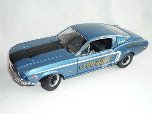 Greenlight Ford Mustang 1968 Blau Racing Fastback 1/18 Modellauto Modell Auto